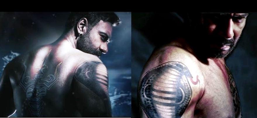 Bollywood celebs and their amazing tattoos - BollyBytes |Ajay Devgan Shiva Tattoo Designs