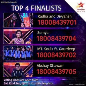 dilhaihindustani2-top4-finalists