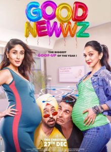 Good Newws Movie Poster out ft. Akki, Diljit, Kareena, Kiara